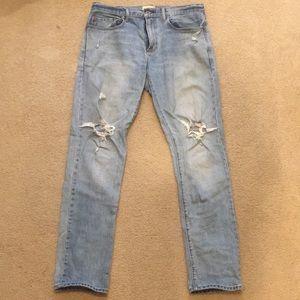Men's GAP slim jeans- 33W/34L - washed blue